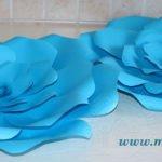 Tutorial fiori giganti di carta