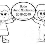 Cartellone Anno scolastico 2018-2019 da colorare