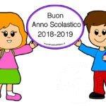 Scritta Buon Anno Scolastico 2018-2019