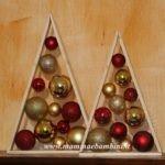 Lavoretto albero di Natale con palline