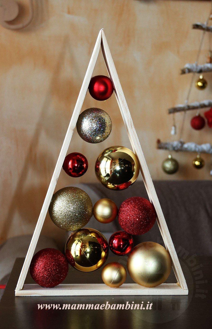 Lavoretti In Legno Per Natale lavoretto albero di natale con palline - mamma e bambini