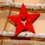 Stella di Natale decorazioni di carta