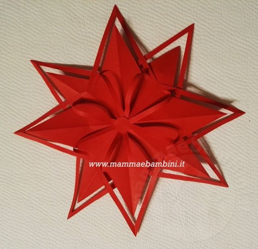 Stella Di Natale Tridimensionale.Tutorial Stella Di Natale 3d Rossa Mamma E Bambini