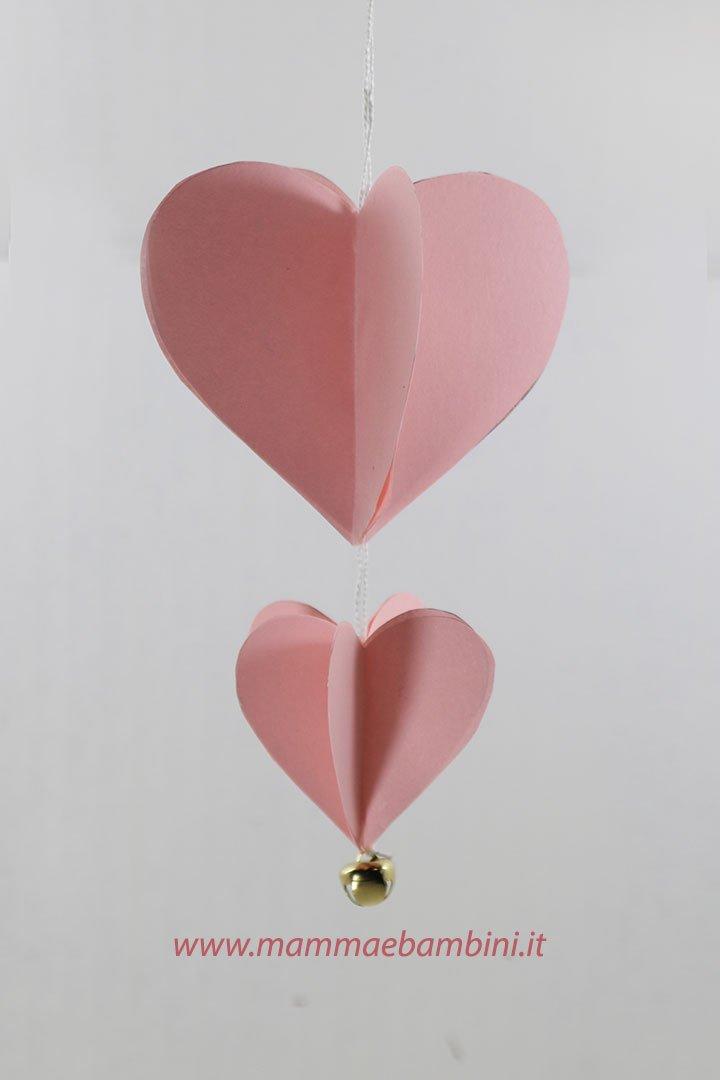 Lavoretto cuore di carta 3D