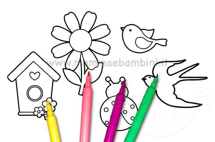 Disegni Primavera Da Colorare Per Bambini Mamma E Bambini