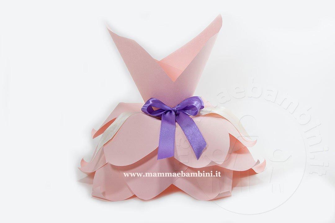 Abito fiore principessa di carta
