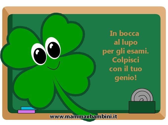 Cartoline Con Frasi In Bocca Al Lupo Mamma E Bambini