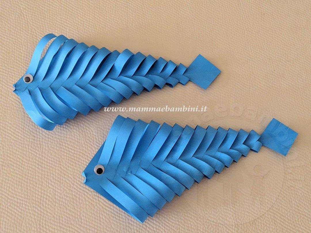 Lavoretti per l'estate: pesci di carta