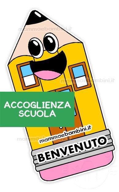 Accoglienza scuola un cartellone da stampare