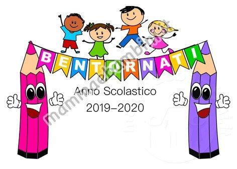 Scritta Bentornati Anno Scolastico 2019-2020