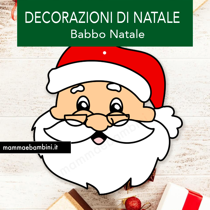 Decorazioni con Babbo Natale da stampare