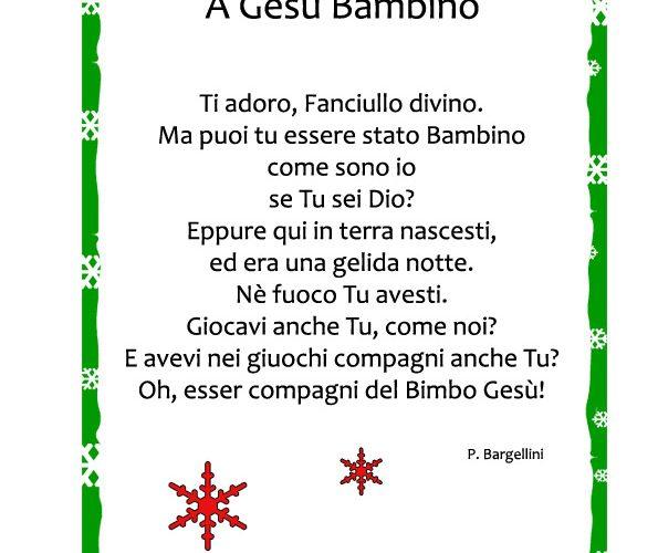 Poesie Di Natale D Autore Scuola Primaria.Poesia Sul Natale A Gesu Bambino Mamma E Bambini