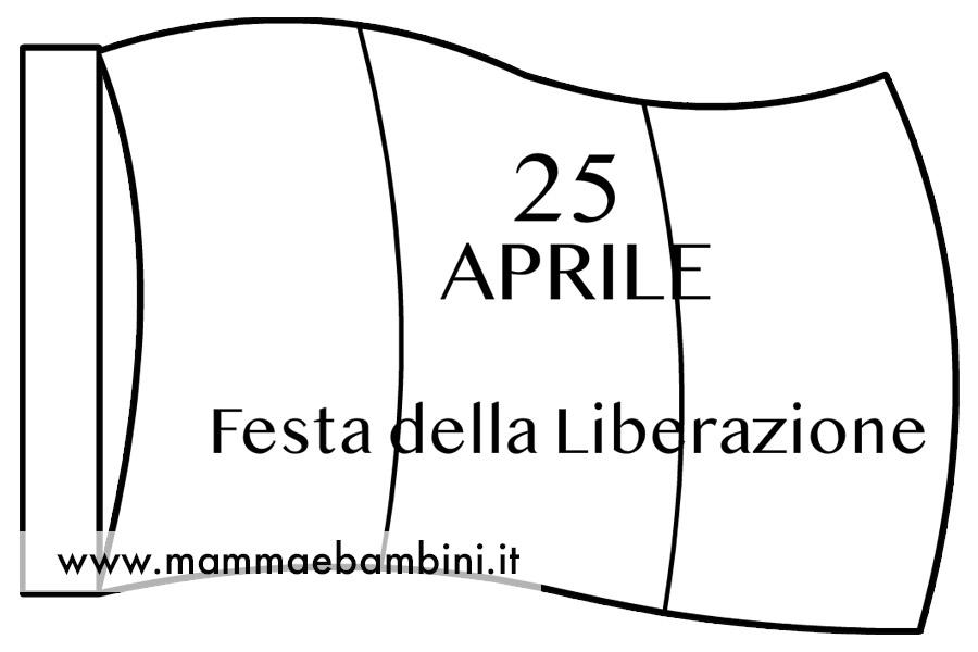 Bandiera da colorare 25 aprile
